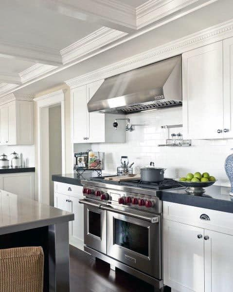 White Kitchen Cabinets With Dark Countertop Ideas