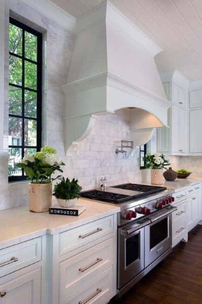 White Kitchen Hood Home Ideas