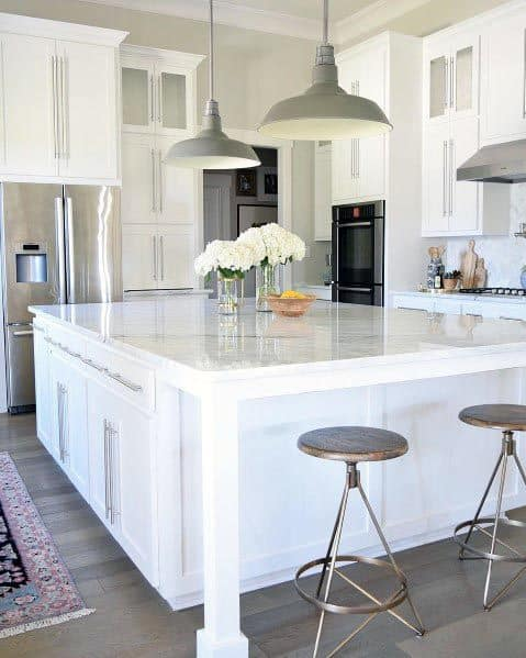 White Kitchen Island Ideas With Rustic Design
