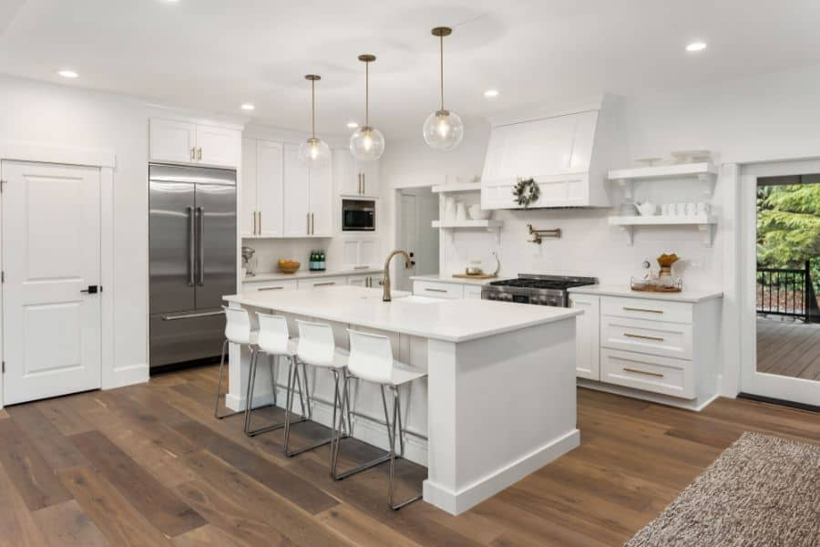 White Kitchen Modern Farmhouse Kitchen 2