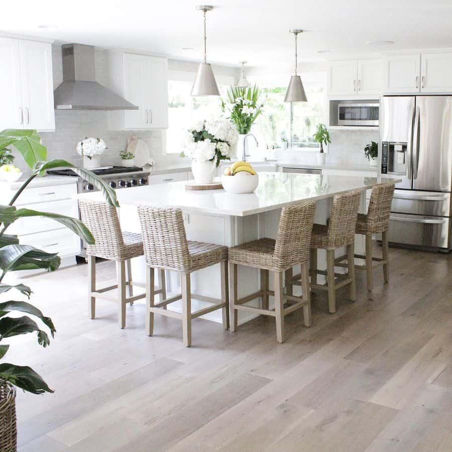 White Kitchen Modern Farmhouse Kitchen Heartofourhome