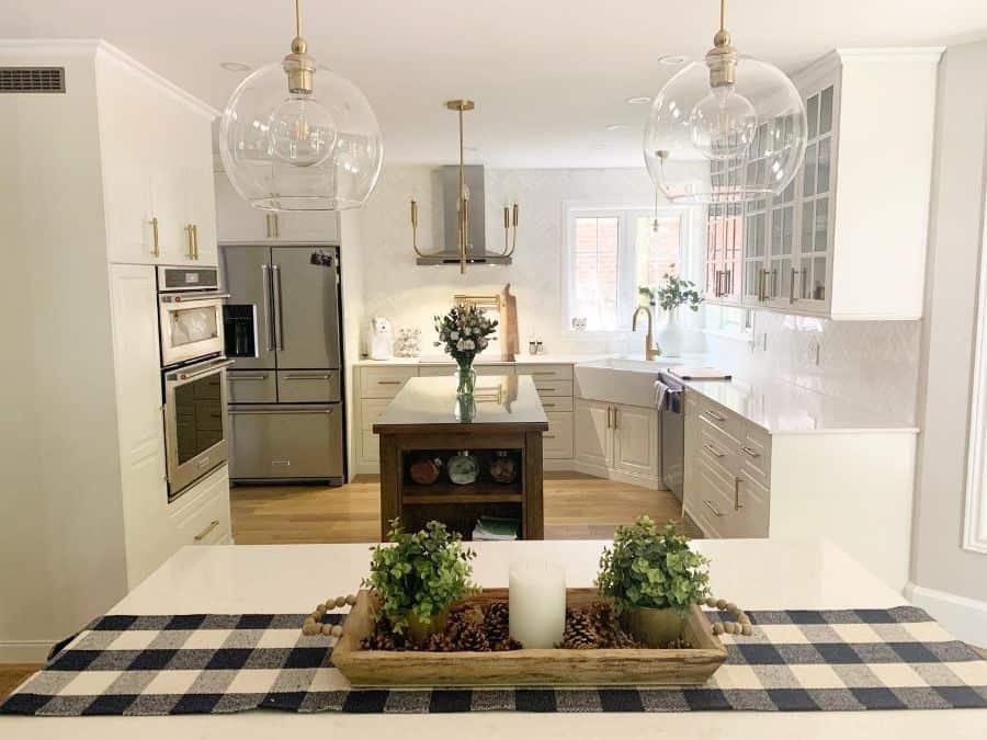 White Kitchen Modern Farmhouse Kitchen Thecastleinthewoods