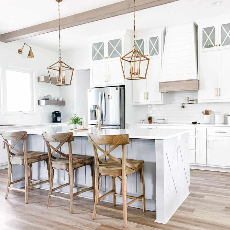 White Kitchen Modern Farmhouse Kitchen Thewhitehouseonpineridge