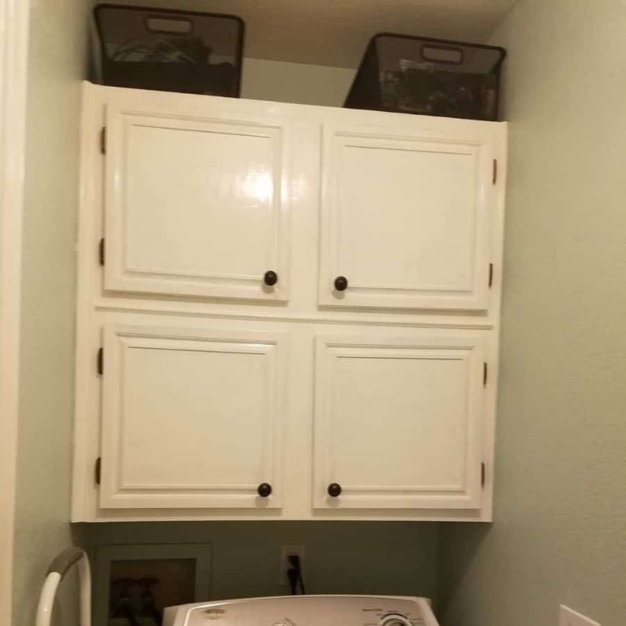 white laundry room cabinet ideas diary.of.a40something.mom