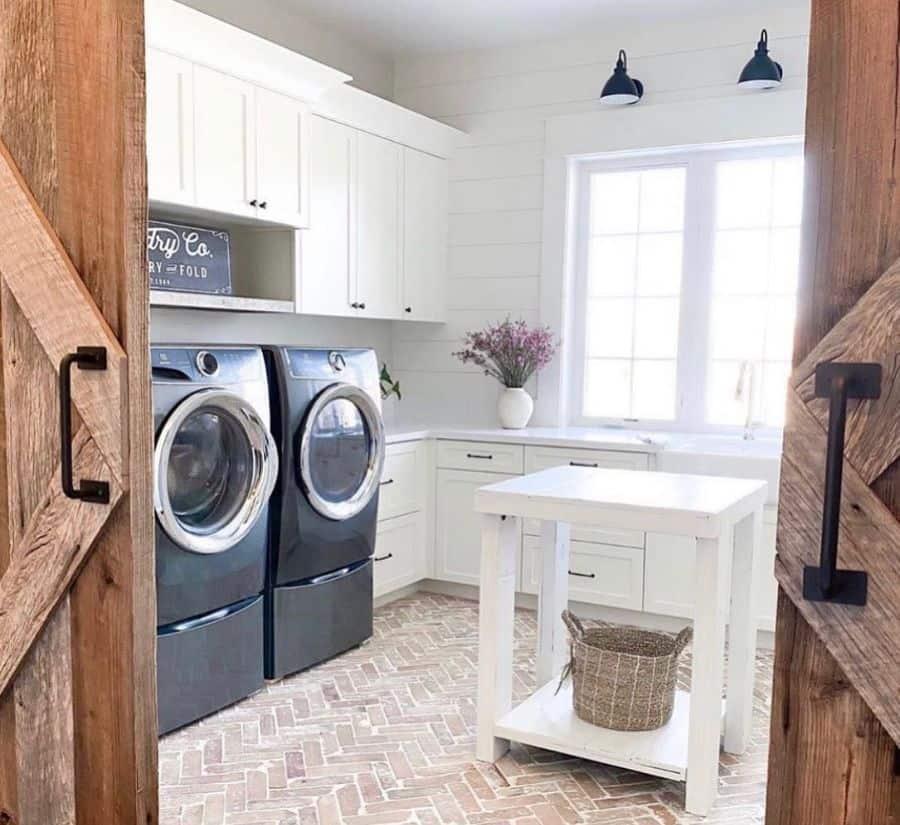 white laundry room cabinet ideas funfloridafarmhouse