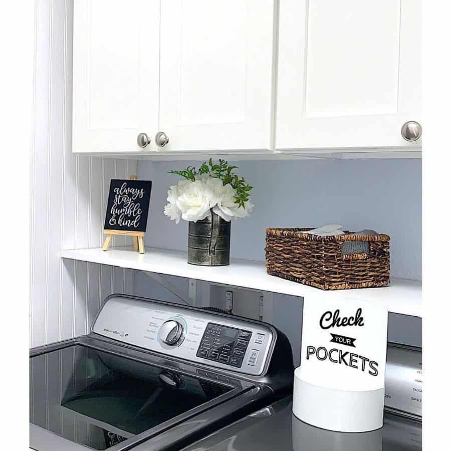 white laundry room cabinet ideas glamdecor_mystyle