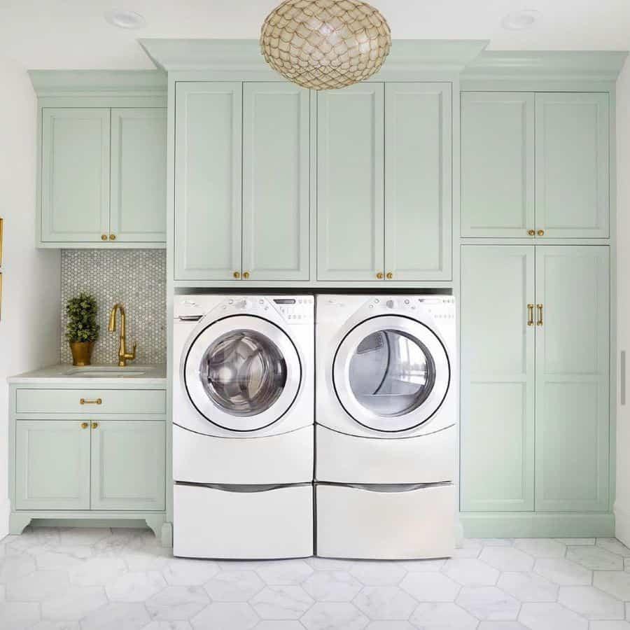 white laundry room cabinet ideas oakandkeys