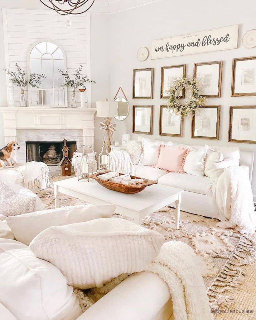 White Living Room Color Ideas Heatherbuglane