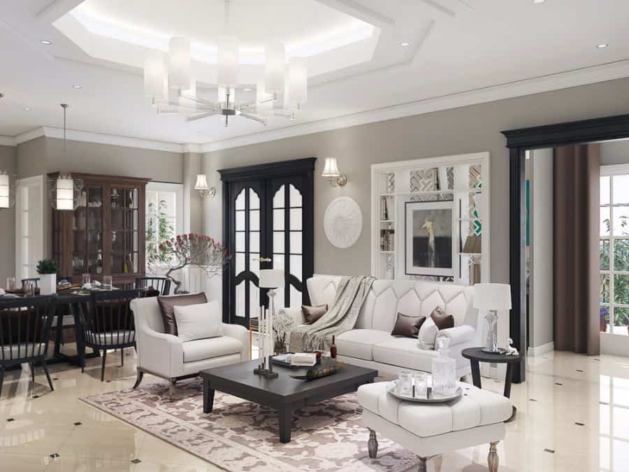 White Living Room Decorating Ideas 3