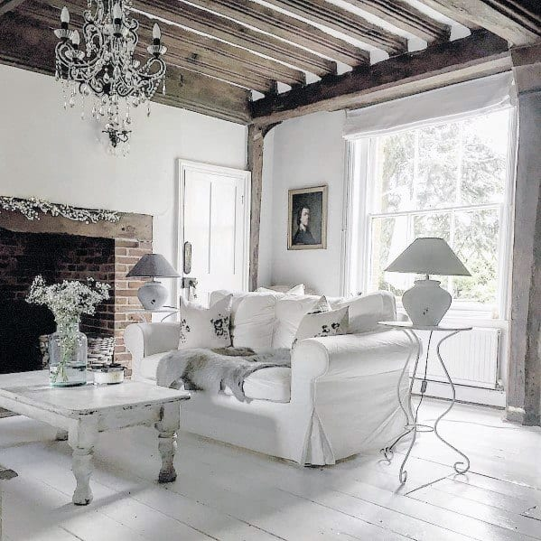 White Living Room Painted Floor Spectacular Ideas