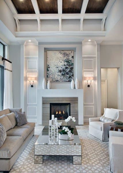 White Luxury Decor Great Room Ideas