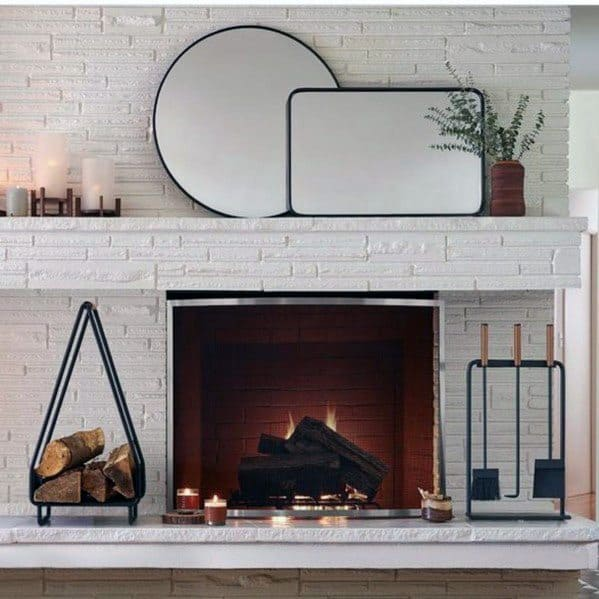 White Magnificent Painted Fireplace Design Ideas