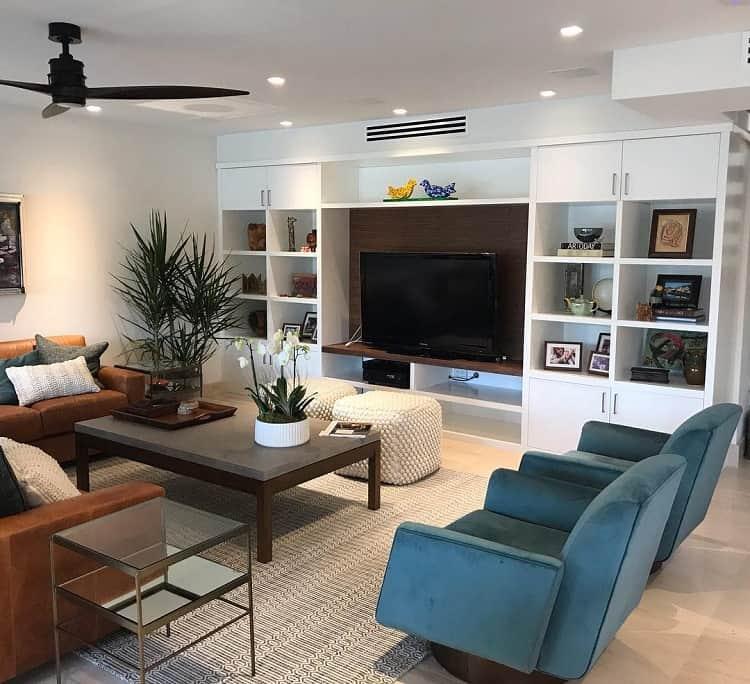 White Maple Wood Livingroom Entertainment Center