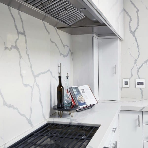 White Marble Slab Backsplash Ideas Kitchen