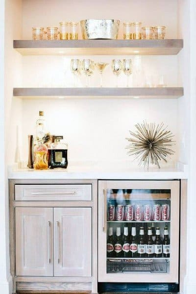 White Mini Bar Ideas