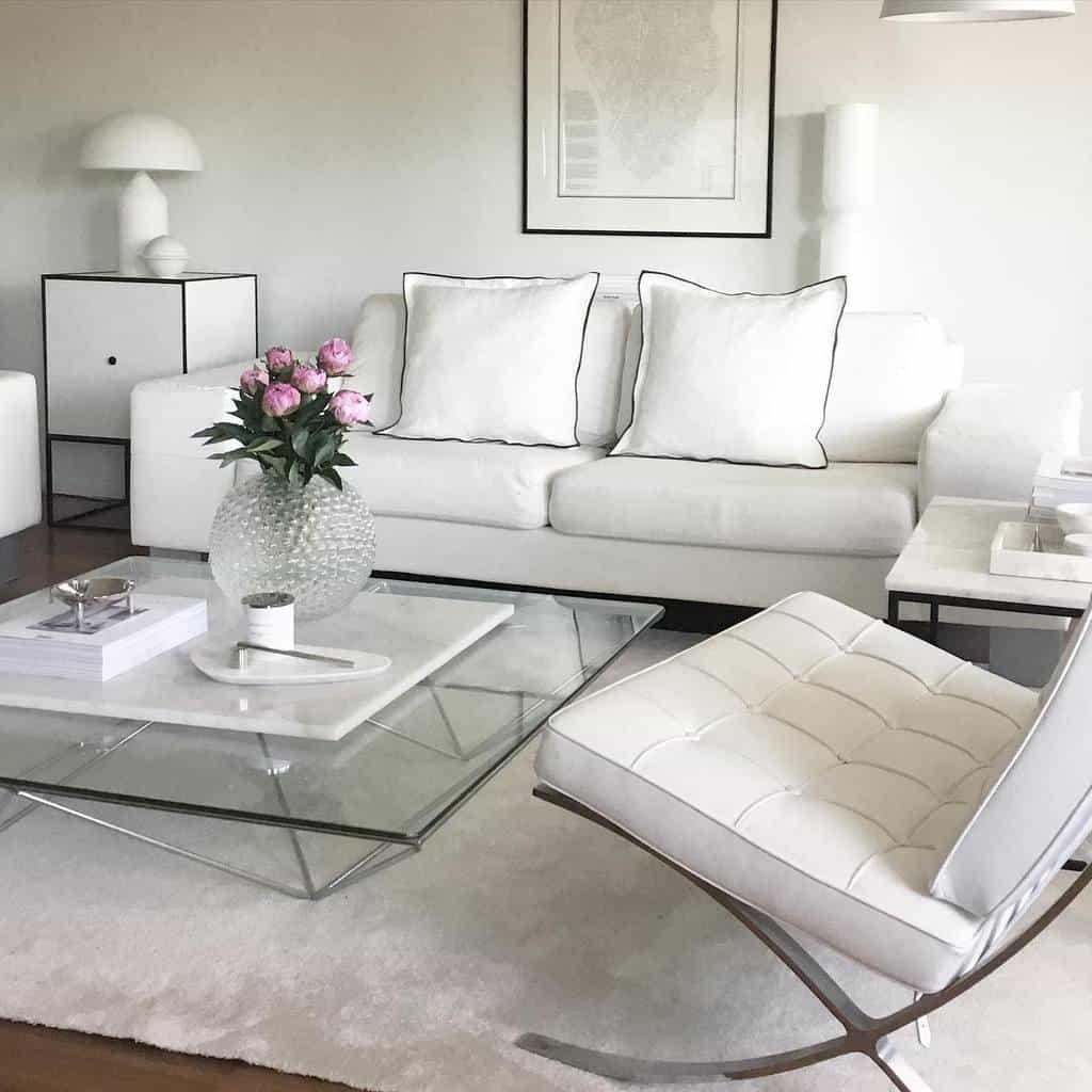 White Minimalist Living Room Minna.kreutzman