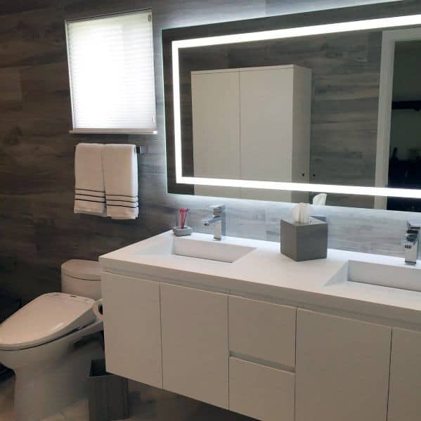 White Modern Bathroom Vanity Design Ideas