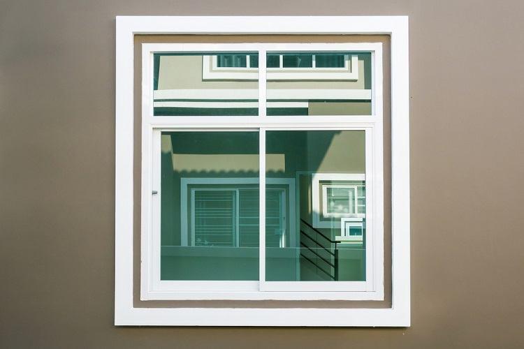 White Modern Exterior Window Trim