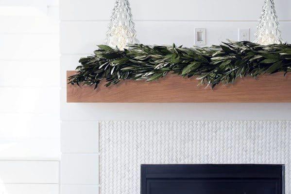 White Mosaic Decorative Fireplace Tile Idea