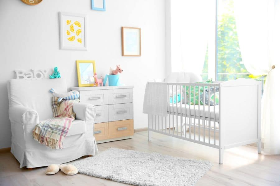 White Neutral Baby Room Ideas 1