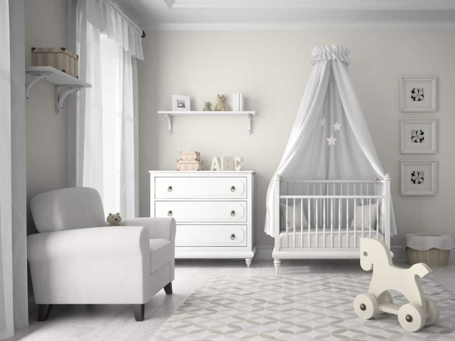 White Neutral Baby Room Ideas 3