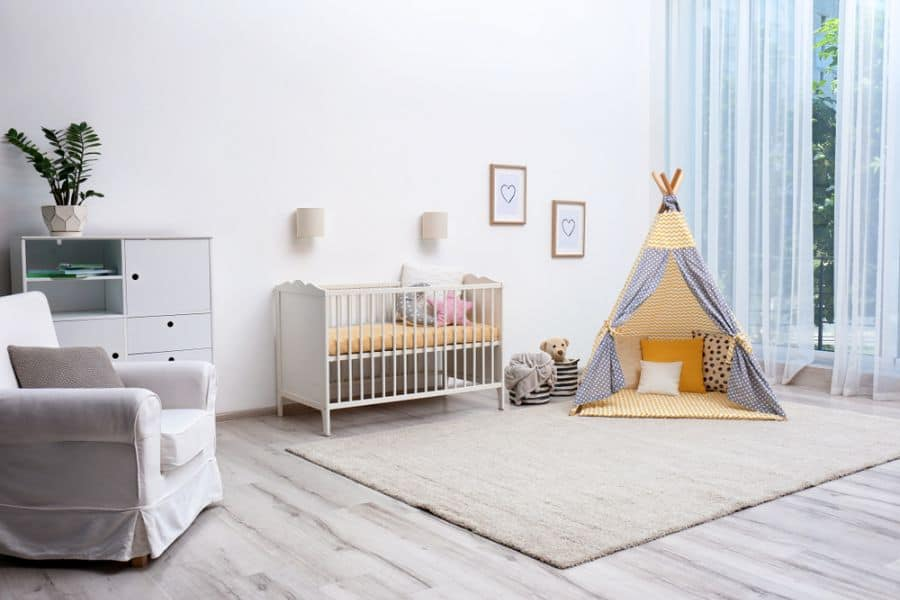 White Neutral Baby Room Ideas 9