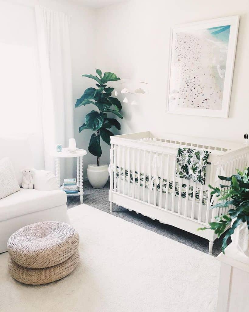 White Nursery Ideas Birdcarlson