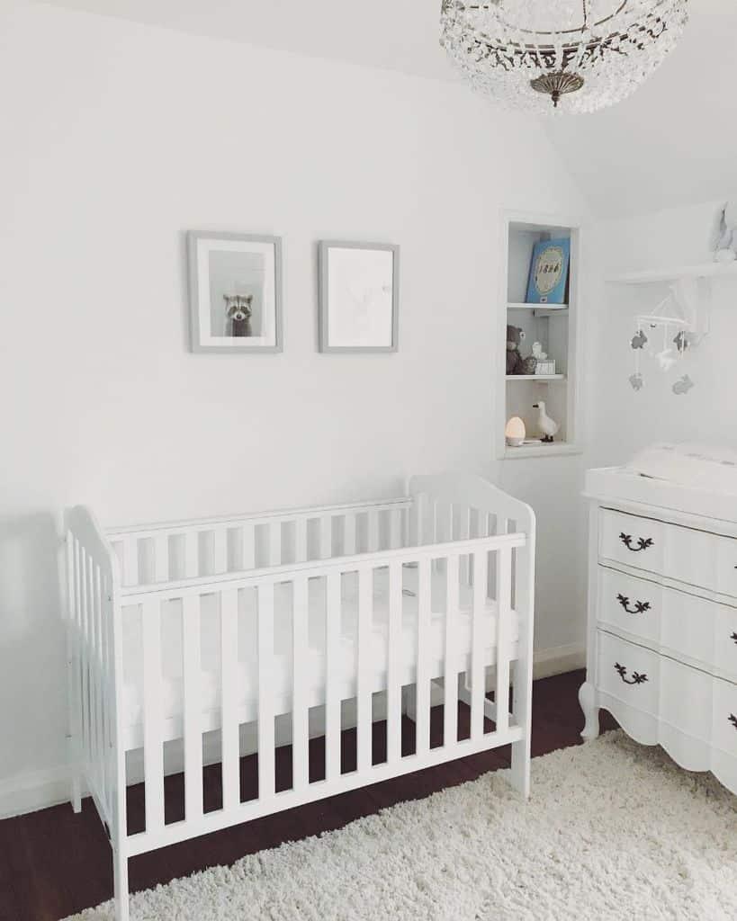 White Nursery Ideas Theallwhitehome