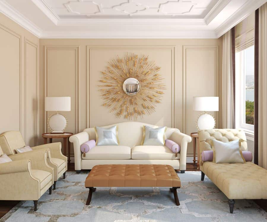 White Or Cream Living Room Paint Ideas 1