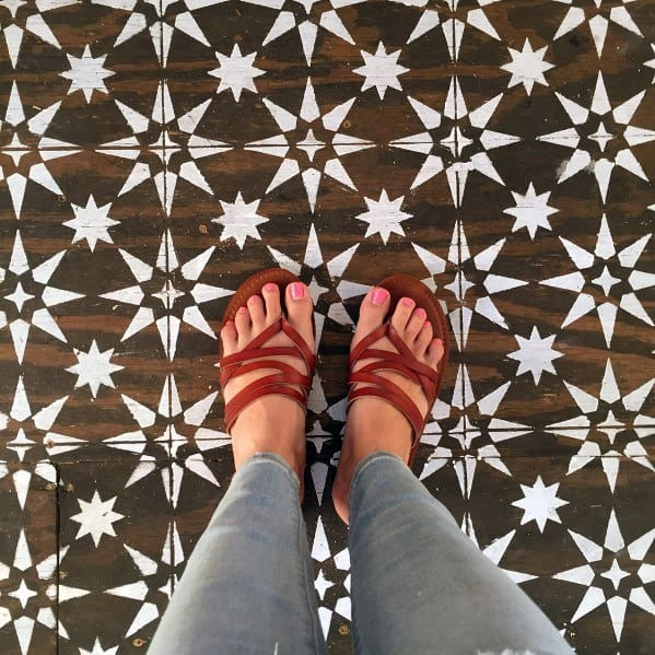 White Over Hardwood Painted Floor Ideas Inspiration