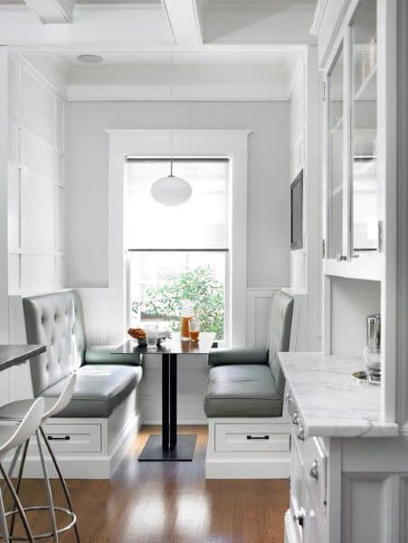 White Pained Small Breakfast Nook Design Ideas