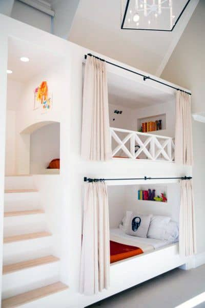White Painted Bunk Bed Ideas