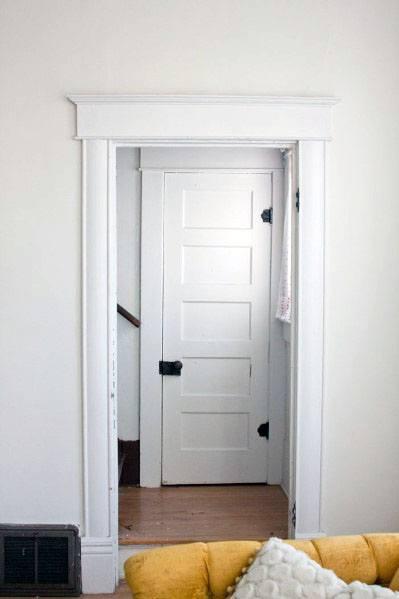 White Painted Door Trims