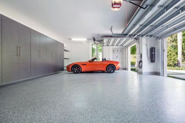 White Painted Drywall Garage Ceiling Designs