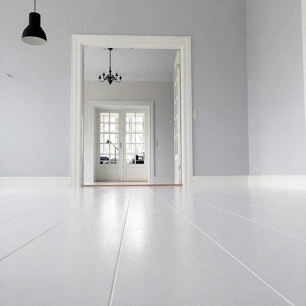 White Painted Hardwood Flooring Ideas