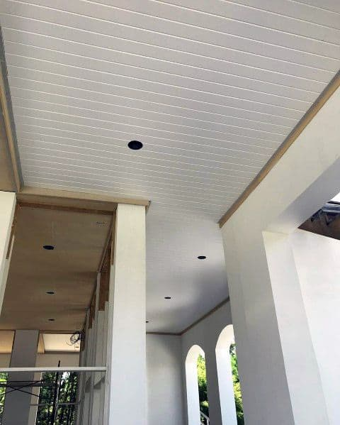 White Painted Ideas For Home Porch Ceiling