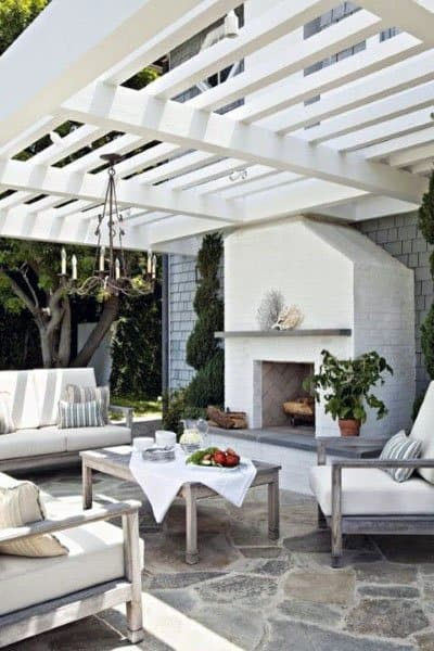 White Painted Pergola Ideas