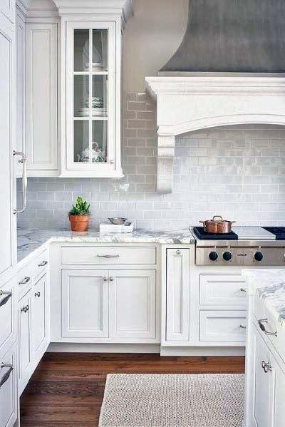 White Painted Steel Kitchen Hood Idea Inspiration