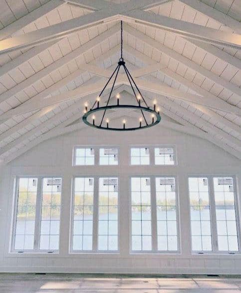White Painted Wood Incredible Vaulted Ceiling