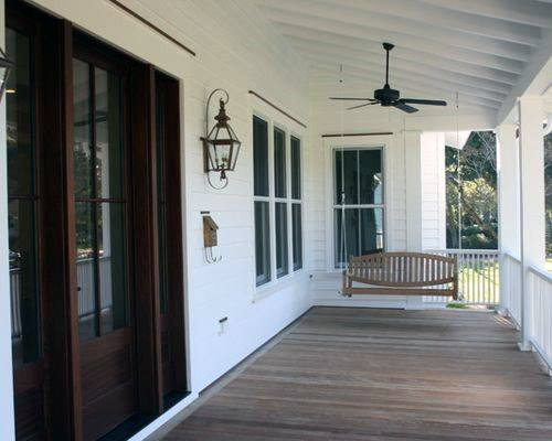 White Painted Wood Porch Ceiling Designs