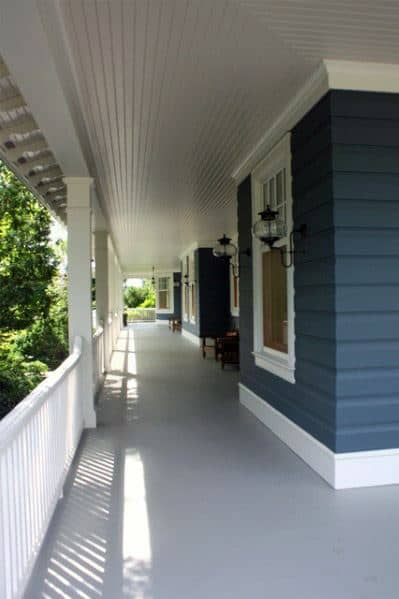 White Painted Wood Porch Ceiling Home Ideas