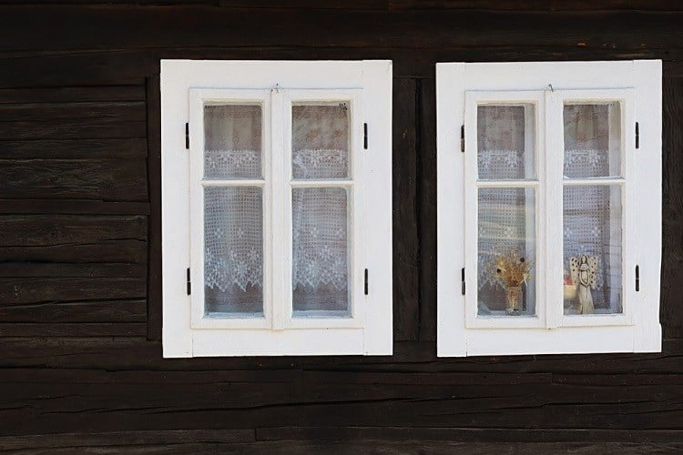 White Painted Wooden Window Frame