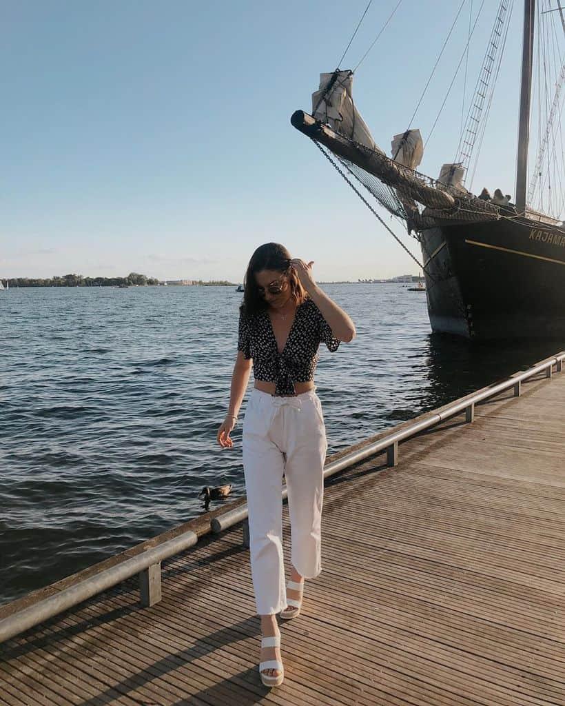 White Pants Nautical Style