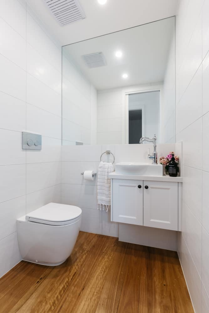 White Powder Room Ideas 1