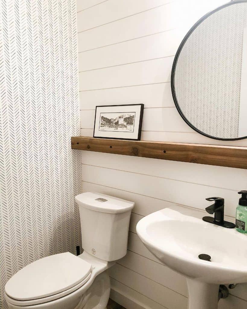 White Powder Room Ideas Asteririsinteriors