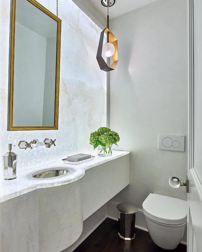 White Powder Room Ideas Carolinadesignassociates