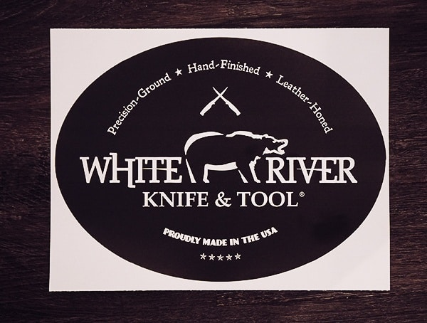 White River Knife And Tool Sticker