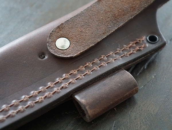 White River Knife And Tool Ursus 45 Leather Sheath Belt Loop Strap