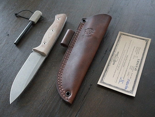 White River Knife And Tool Ursus 45 With Included Papers