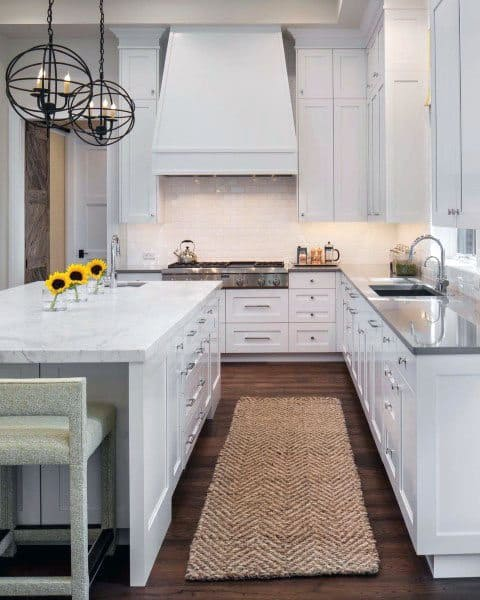 White Rustic Kitchen Cabinet Ideas